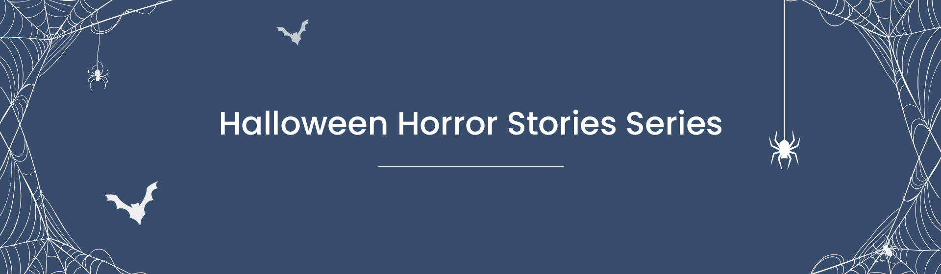Halloween Horror Stories Series banner
